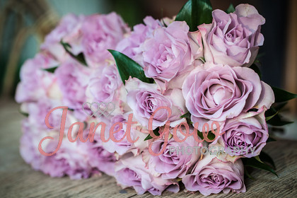 Bridesmaid-Bouquet-0003   Two bridesmaids pink rose bouquets   Keywords: wedding bridal bridesmaid pink rose bouquets two