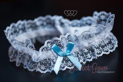 Garter-0001   Wedding garter with blue ribbon   Keywords: wedding garter lace blue ribbon